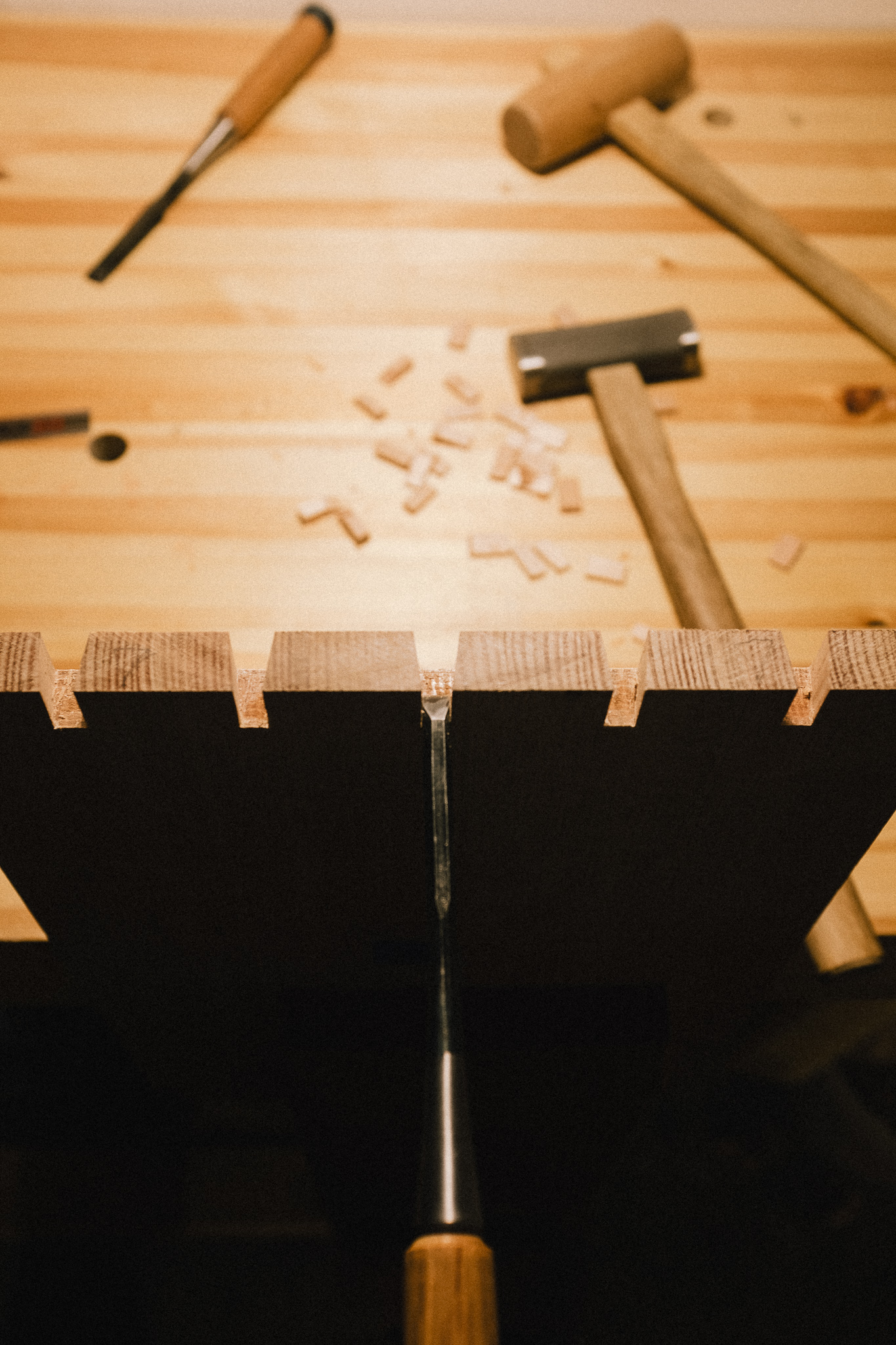 Cleaning dovetails