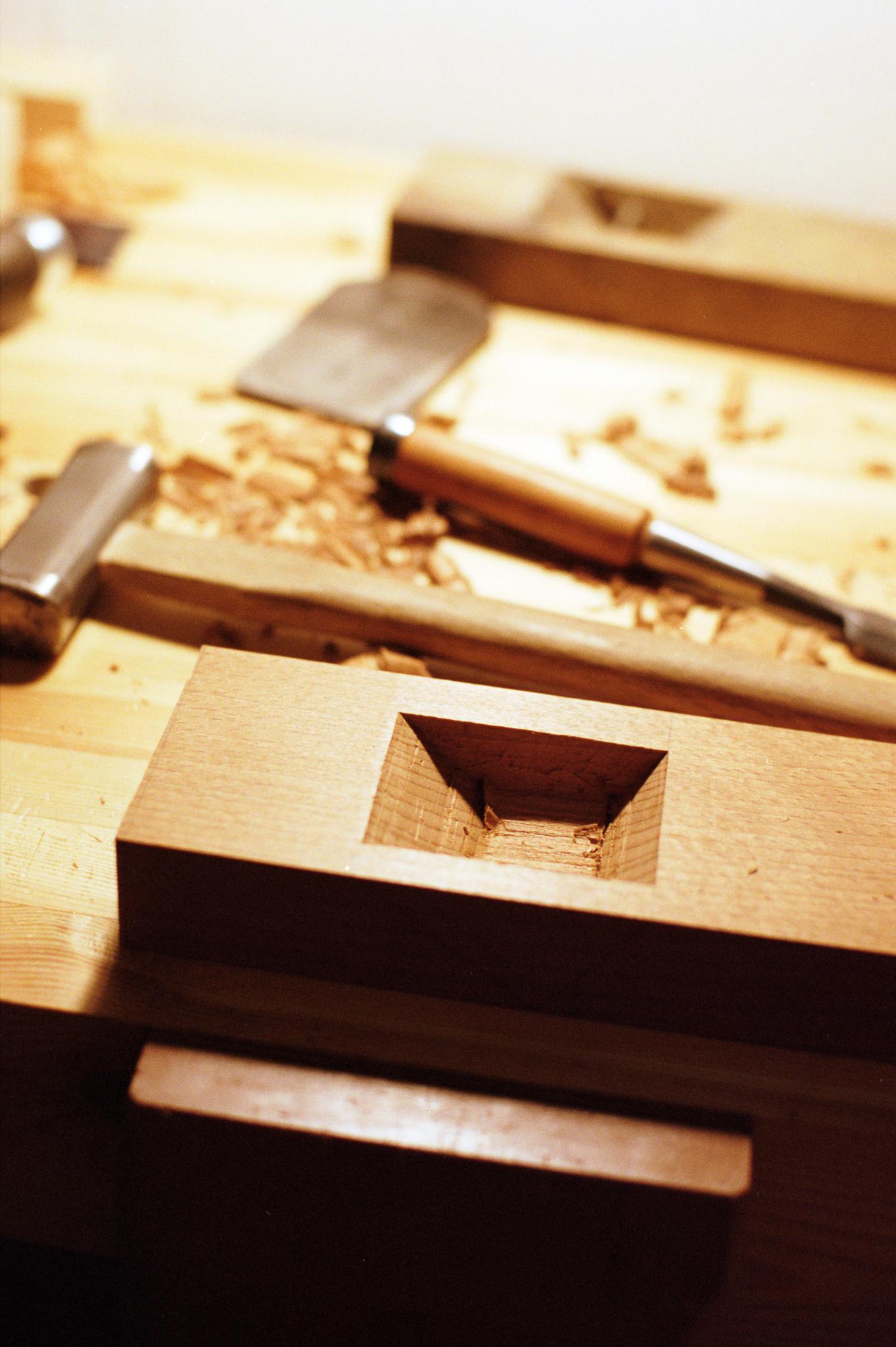 Making kanna hand plane dai