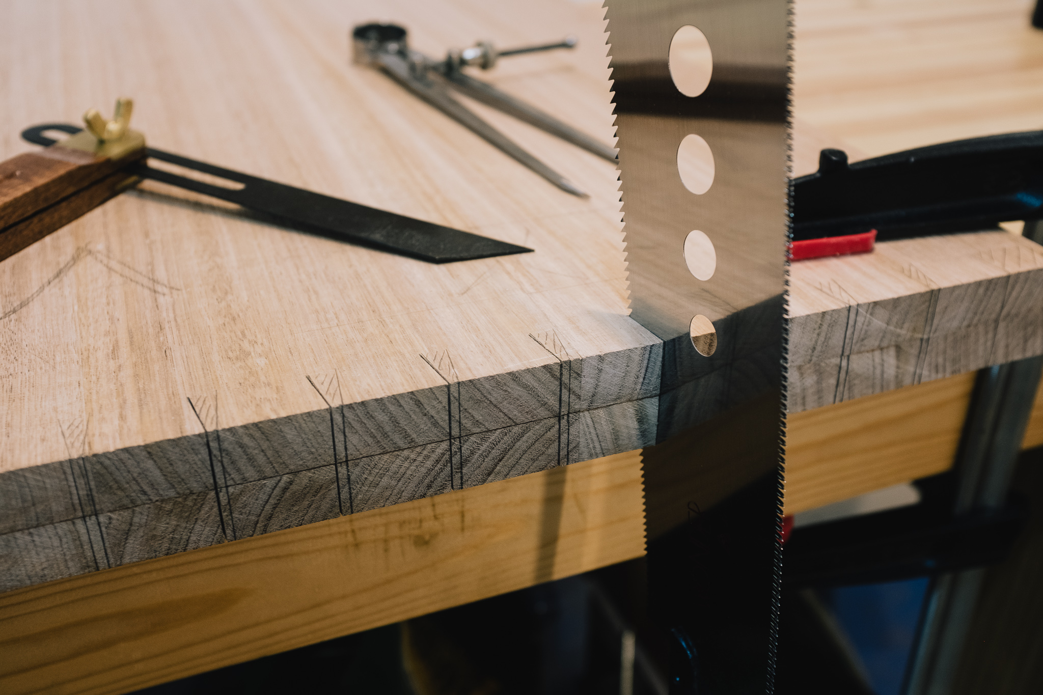 Gang cutting dovetails