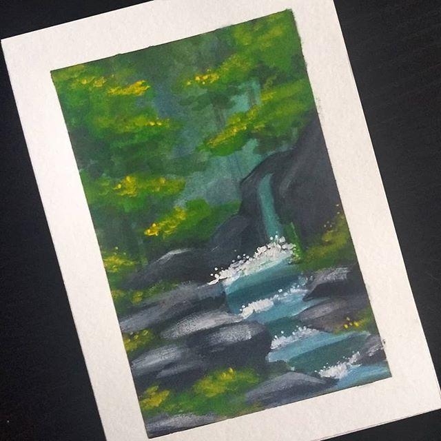New year, new medium. #gouache . . . #gouachepainting #artoftheday #artistsoninstagram #watercolor
