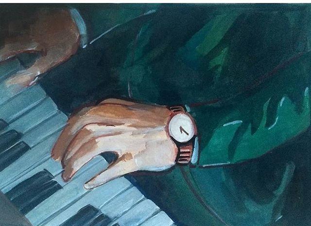 . . . #artoftheday #artistsoninstagram #gouache #gouachepainting #piano