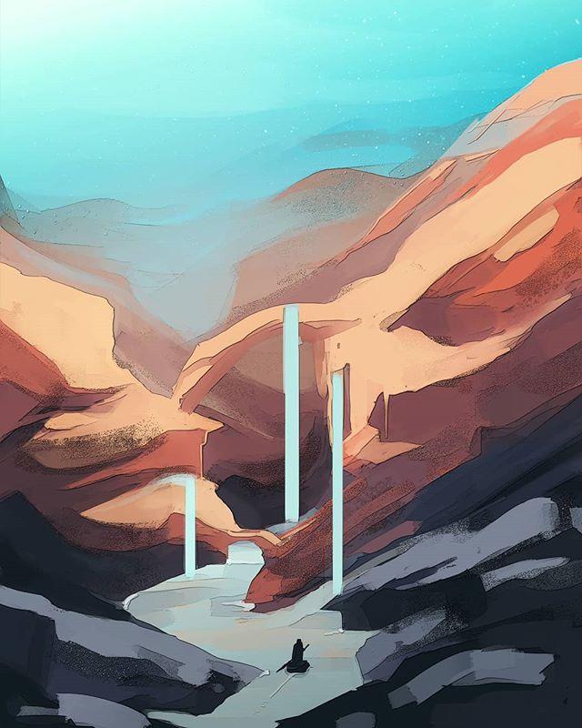 I'm back . . . #landscape #artoftheday #artistsoninstagram #digitalillustration
