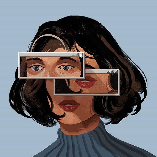 Child of the internet . . . #artistsoninstagram #art #digitalart #portrait #illustration #illustrationoftheday