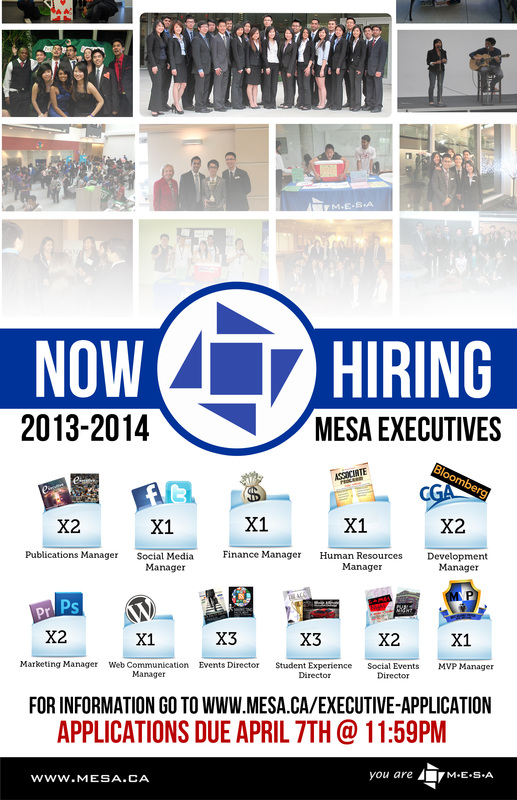 MESA Executive Team Hiring Poster