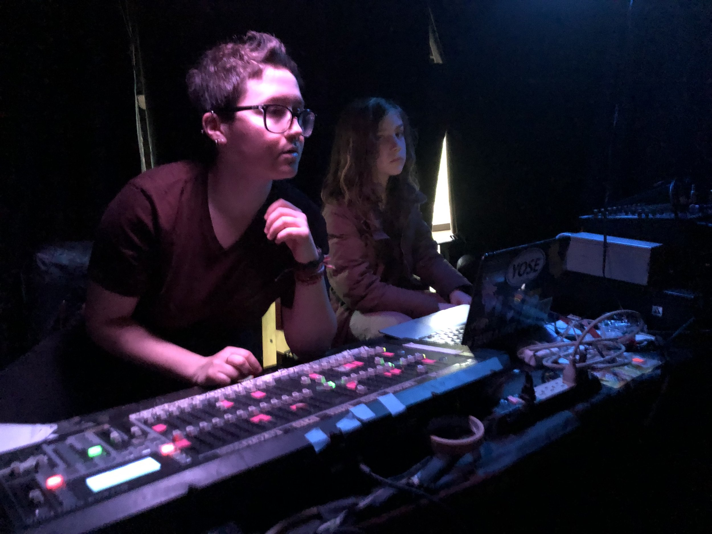 Tech Team for ICE Drama Club's production of THE MAGIC HOUR at WOW Theater