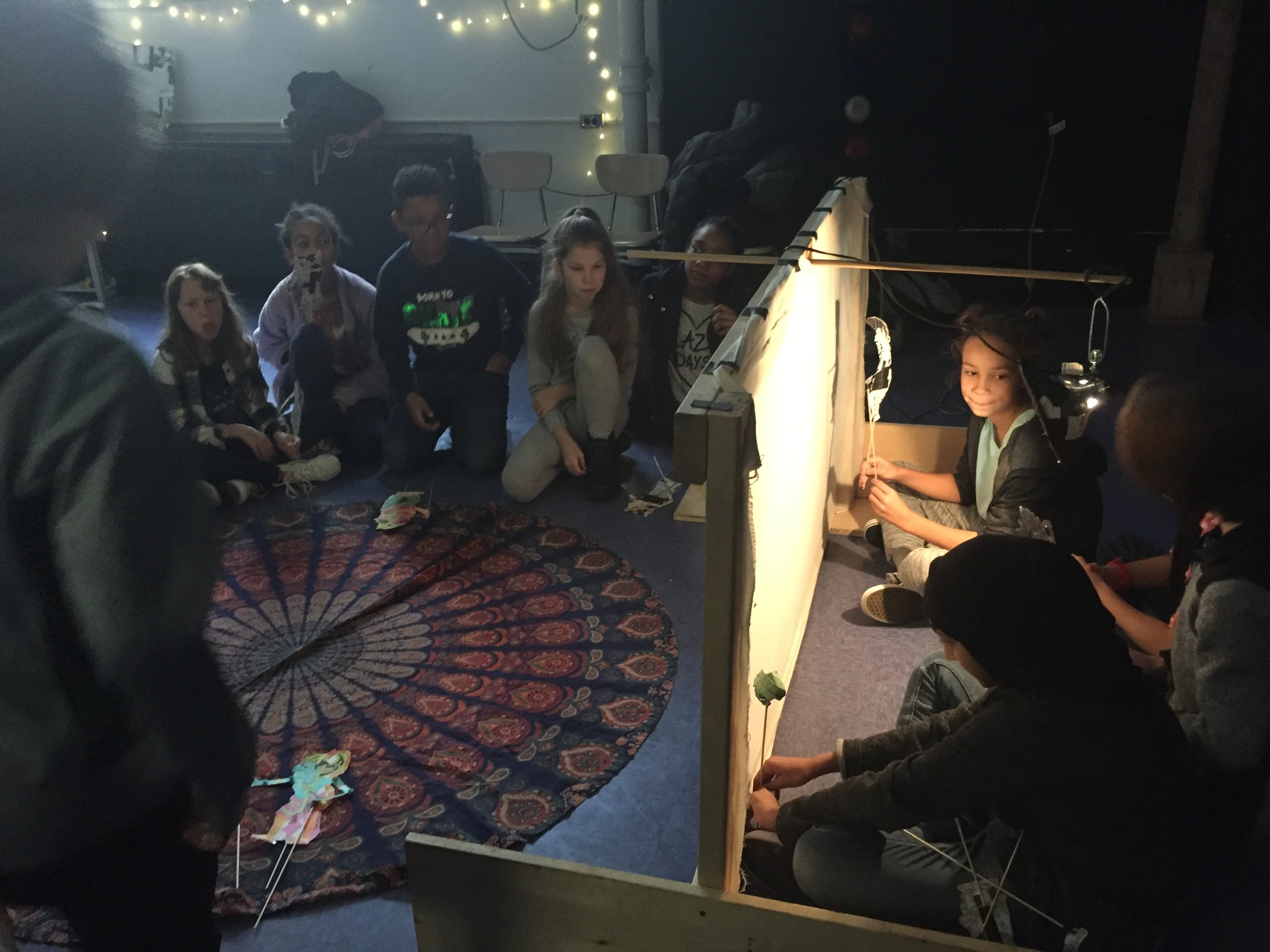 Balinese Shadow Puppetry with 6th Grade Drama