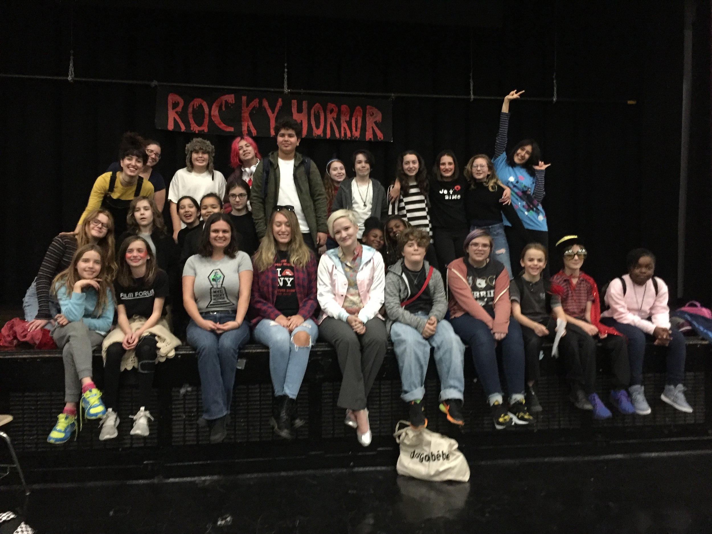 ICE Drama Club performs excerpts from ROCKY HORROR PICTURE SHOW