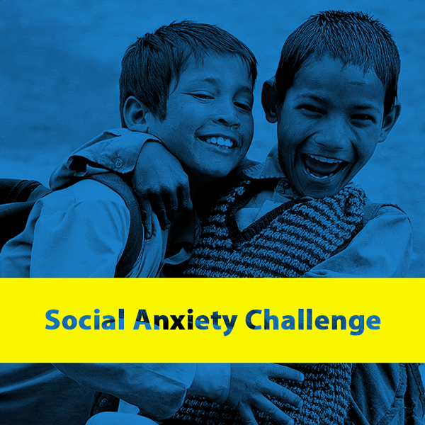 The Social Anxiety Challenge is a fun 21-day challenge designed to break down anxieties and build confidence by getting you out of your head and completing small daily tasks to expand your comfort zone.
