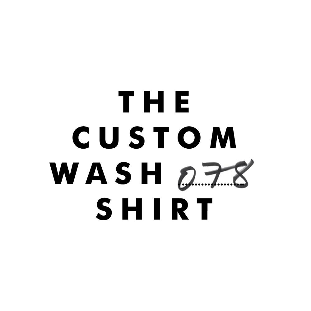 Custom Wash Shirt Branding