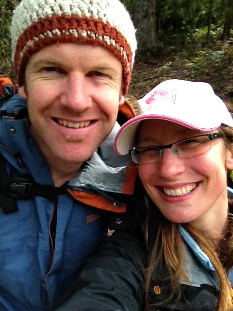 Mr S and I enjoying Mount Wellington, Hobart.