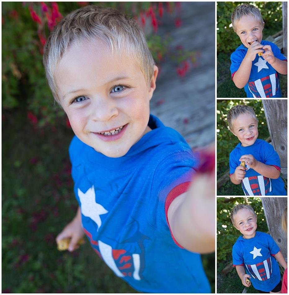 boy blue shirt child photographer Seattle