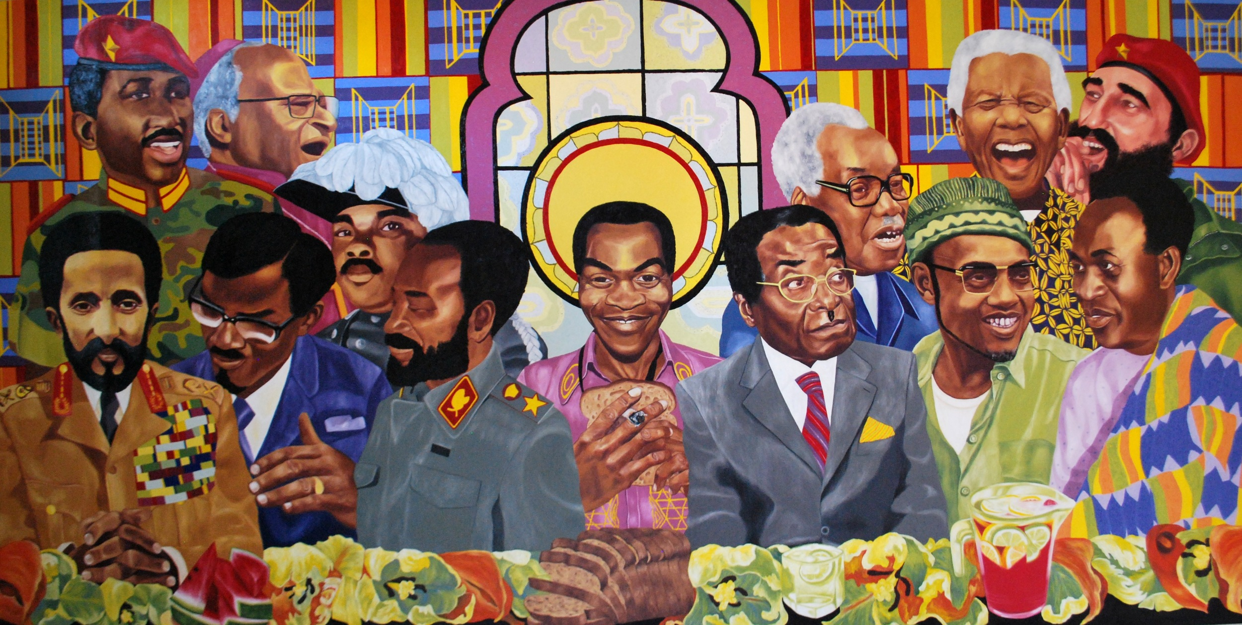 The Last Supper , 2014, oil on canvas, 150cm x 300cm, Sindika Dokolo Collection