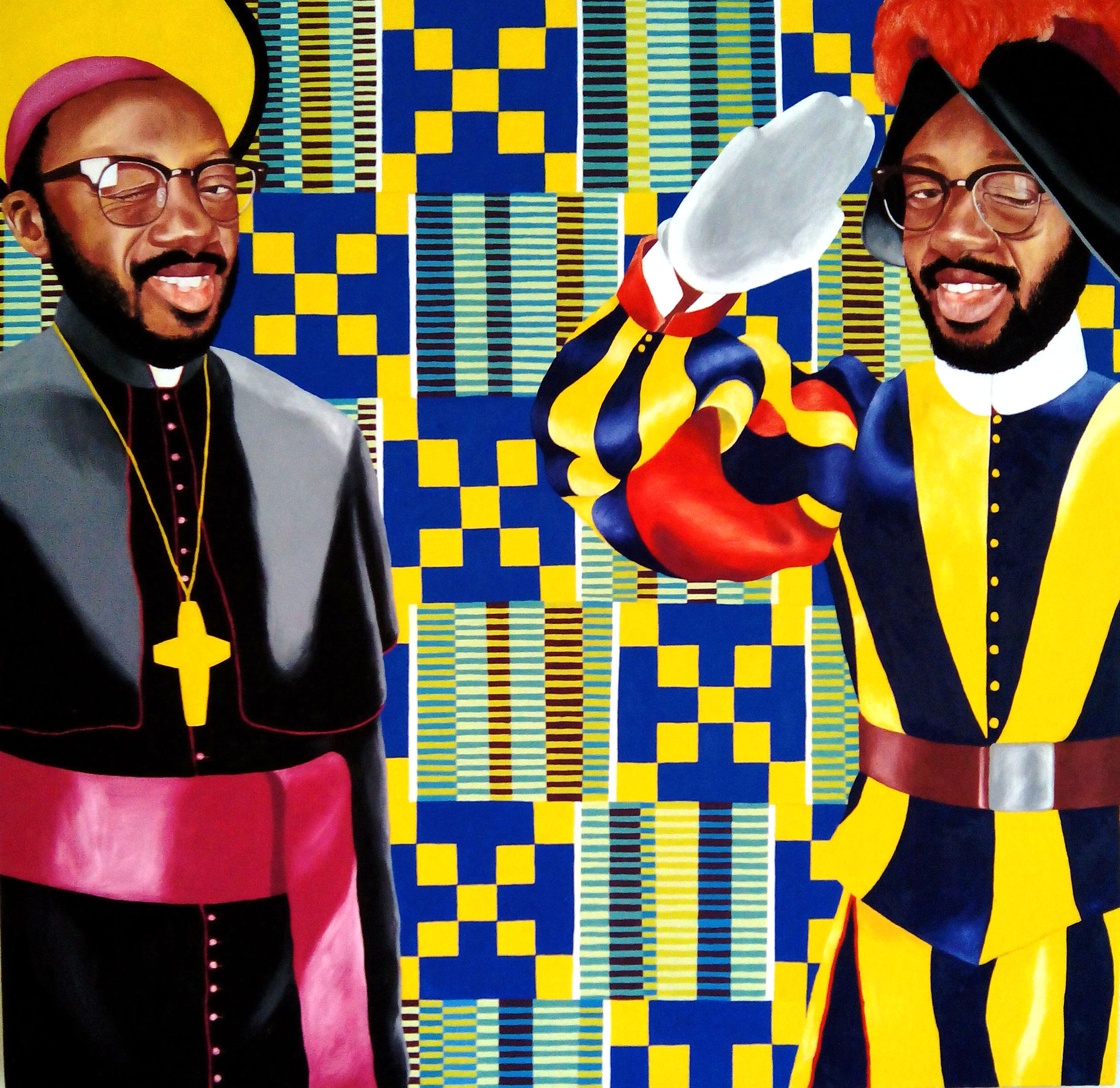 No African Pope,  2015, oil on canvas, 100cm x 100cm, Private Collection