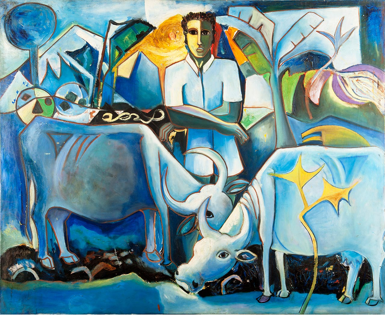 Geoffrey Mukasa (1954-2009), At Home , 1991,oil on canvas,126 x 154 cm