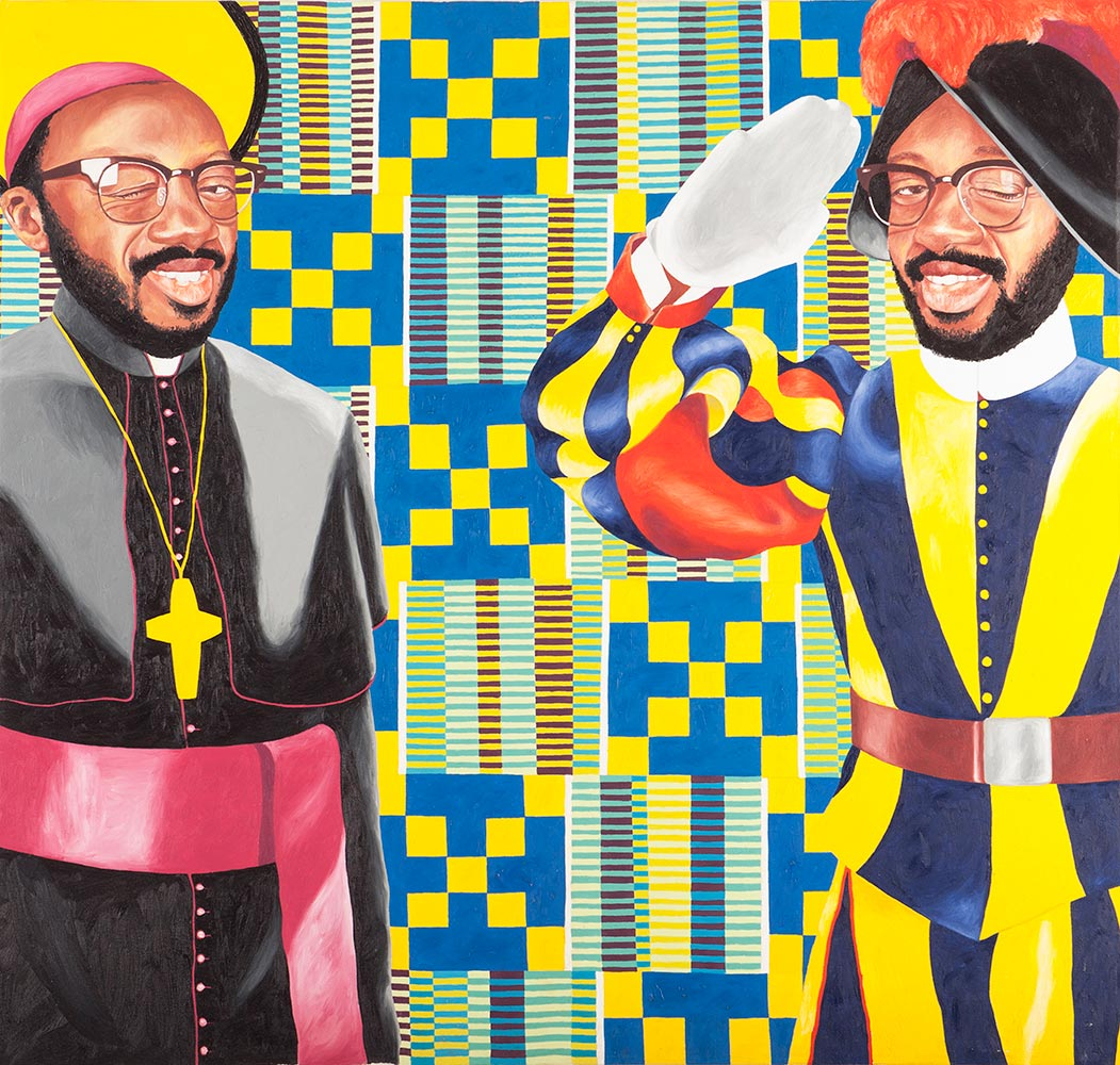 Paul Ndema, No African Pope , 2015, Acrylic on canvas,94 x 100 cm