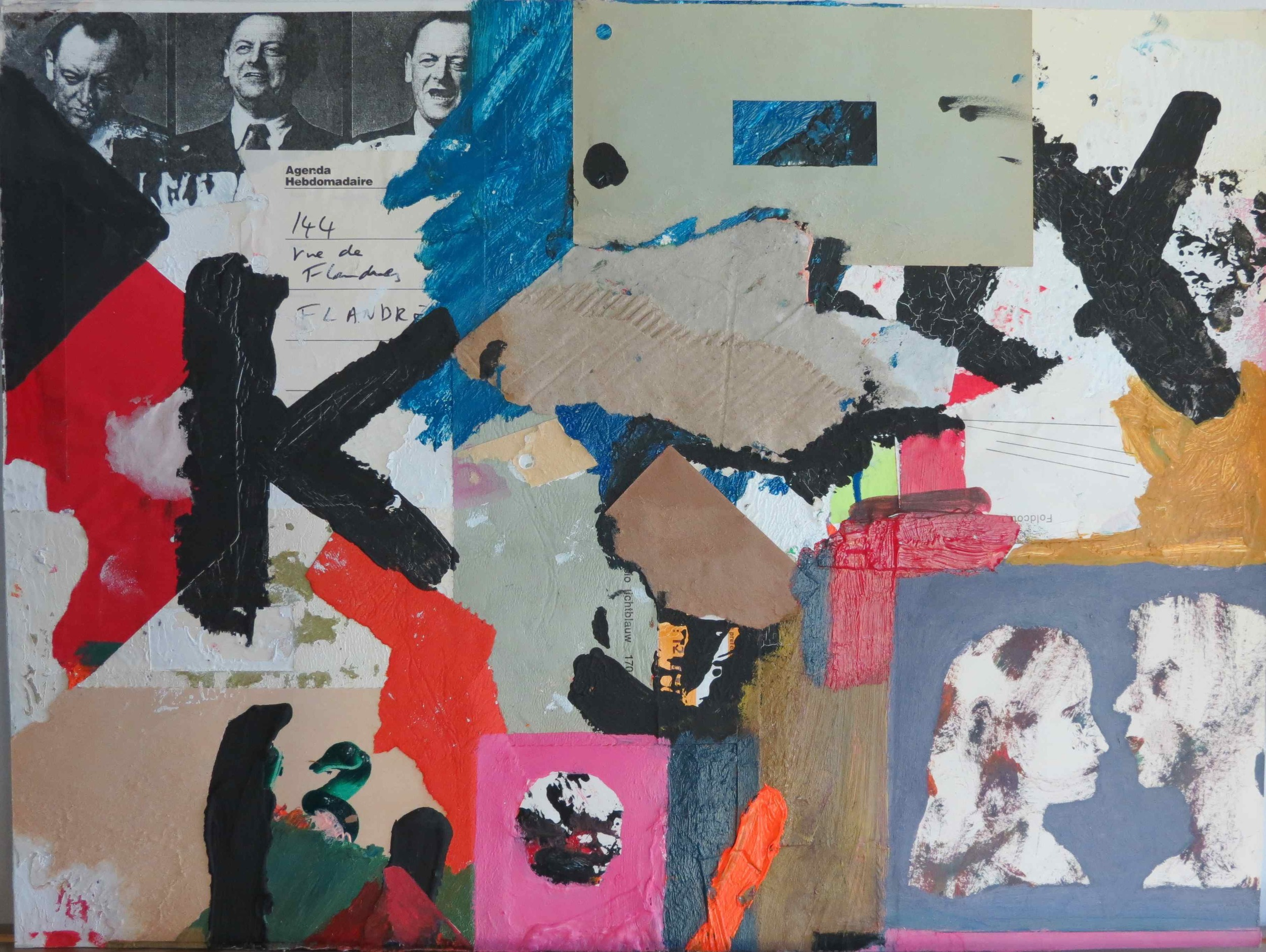 Homage to Kurt Schwitters , 2003, mixed media on paper, 30 cm x 40 cm