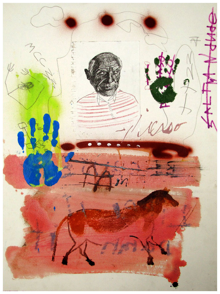 Lineage , 2006, mixed media on paper, 65 x 50cm