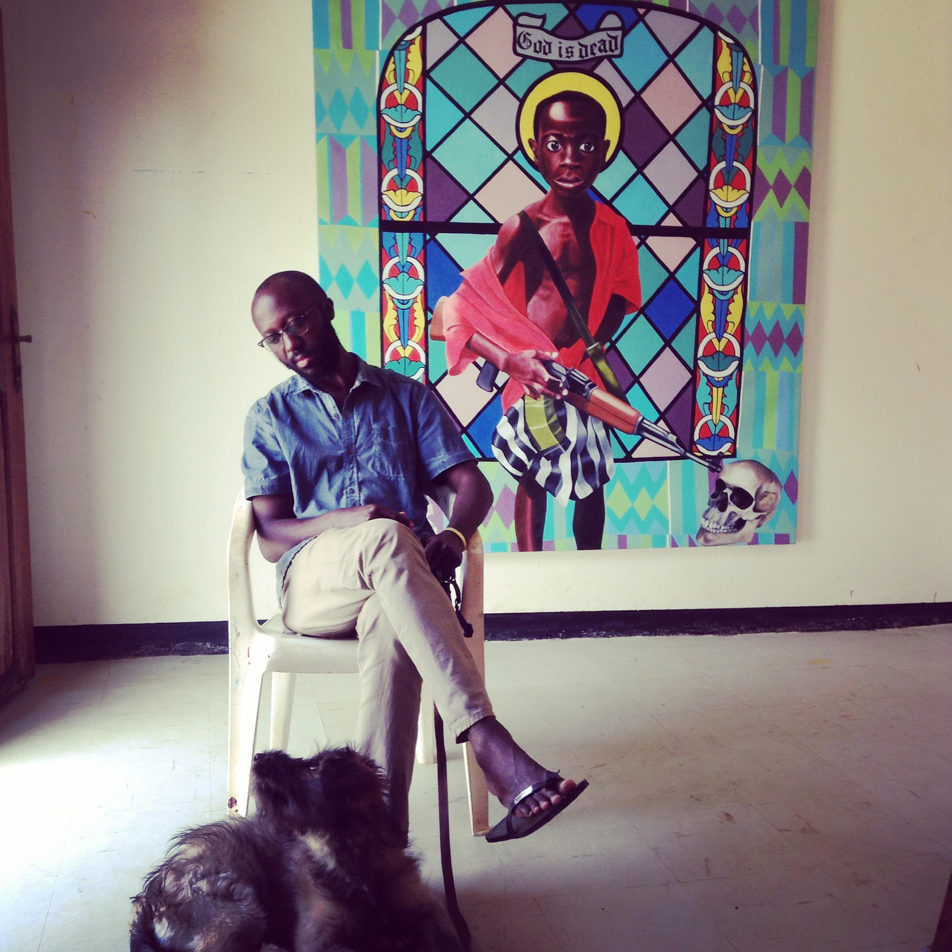 Paul Ndema in his studio. ©NH Contemporary