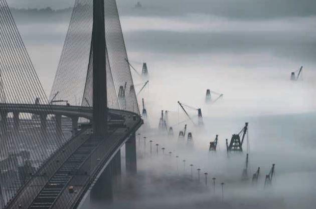 《四時變化之海霧》-田進福