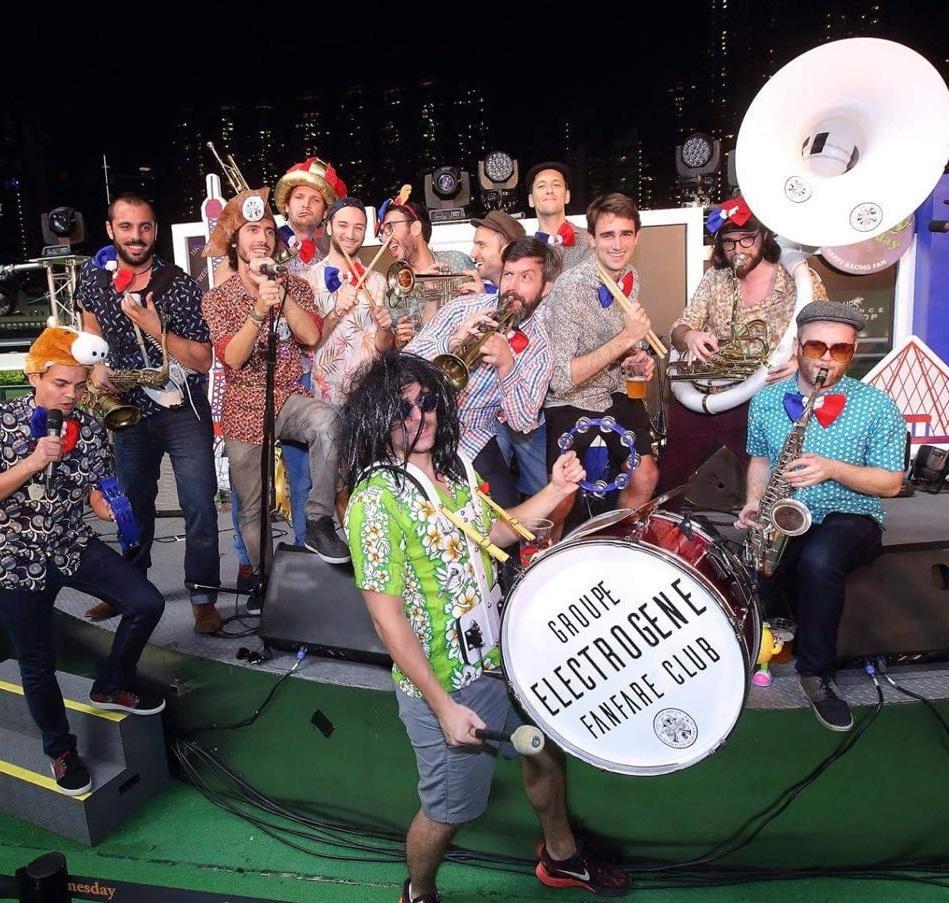 Jun 8, 2019Electrogene Fanfare Club - Time: 2:00 - 4:45 PMElectrogene Fanfare Club 步操樂隊由一群法國音樂家組成,他們以自供電的樂器表演街頭搖滾,向經典法國歌曲致敬。