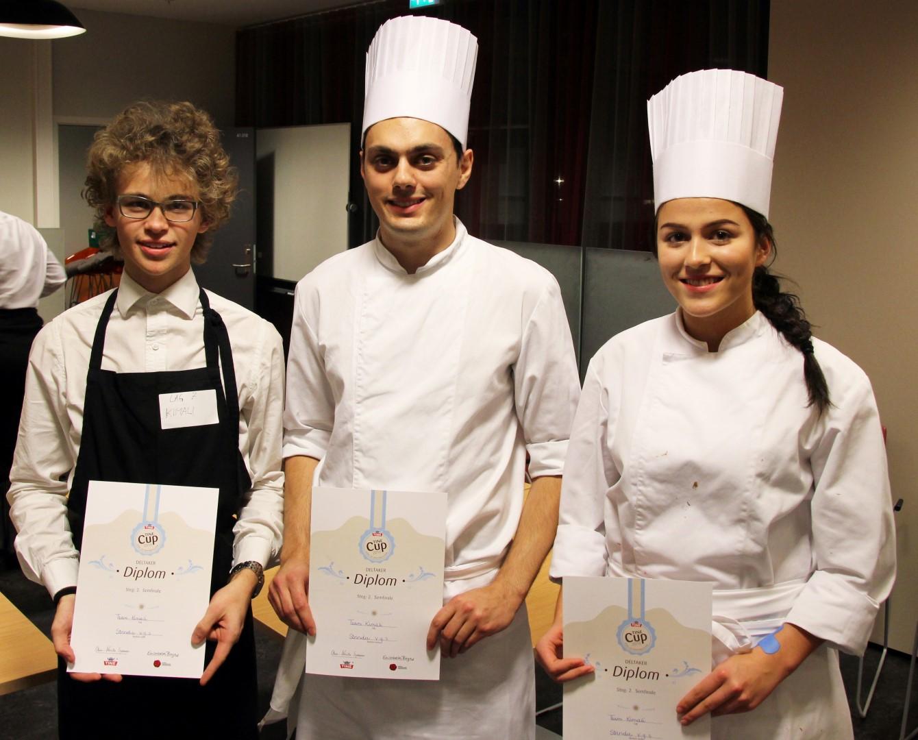 Vinner laget fra Strinda vgs. med Magne, Kim og Live, som skal konkurrere i finalen i slutten av januar 2016. Gratulerer til alle tre, dere gjorde en fenomenal innsats og gikk av med en fortjent seier.