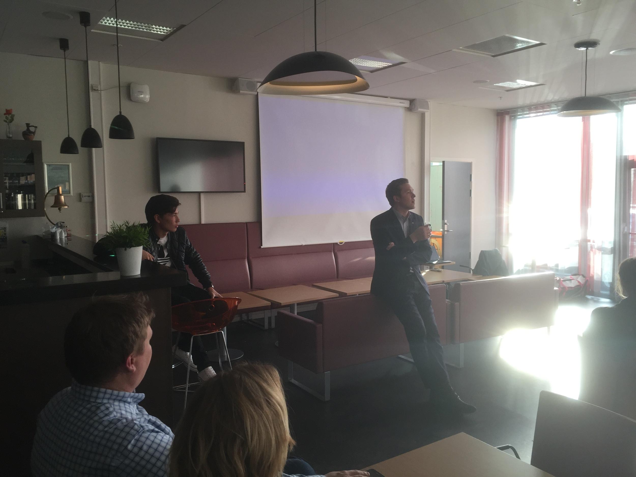 Diriktøren på Britannia Hotell, Arne Marius Berg fortalte om sin karrierevei.