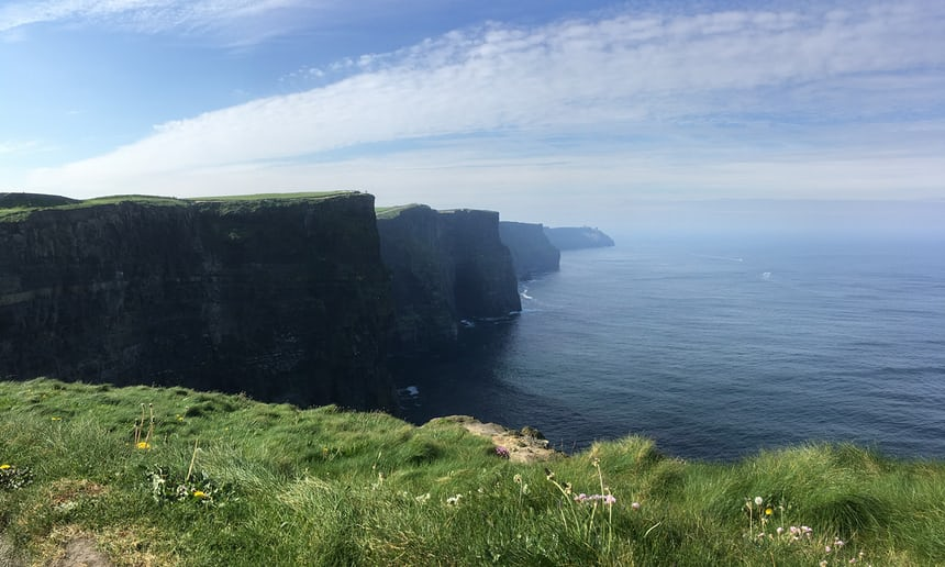 A tough climb up to the Cliffs of Moher, County Clare. Photograph: James Hislop