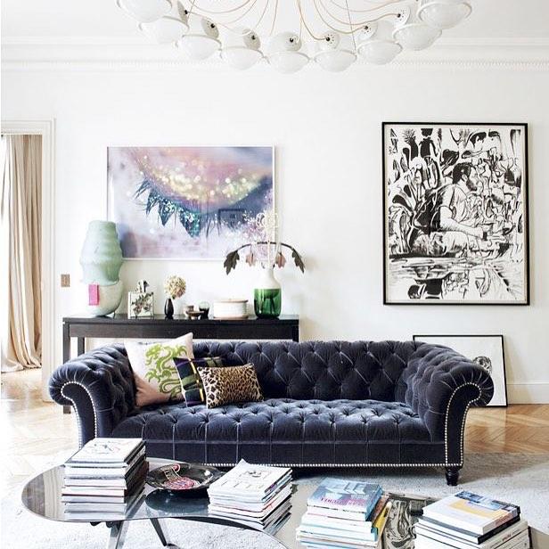 W eklektycznym stylu. Eclectic style.#interiordesign#interiordesignblog#interiors#wnetrza#blogwnetrzarski# source: domainehome.com