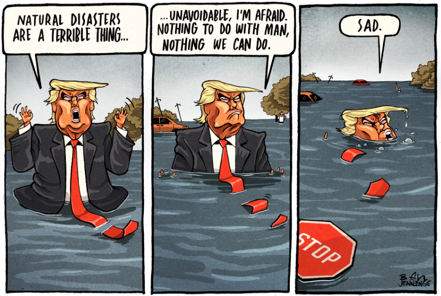 Image from https://www.theguardian.com/commentisfree/picture/2017/aug/29/ben-jennings-on-donald-trump-tropical-storm-harvey-climate-change-cartoon