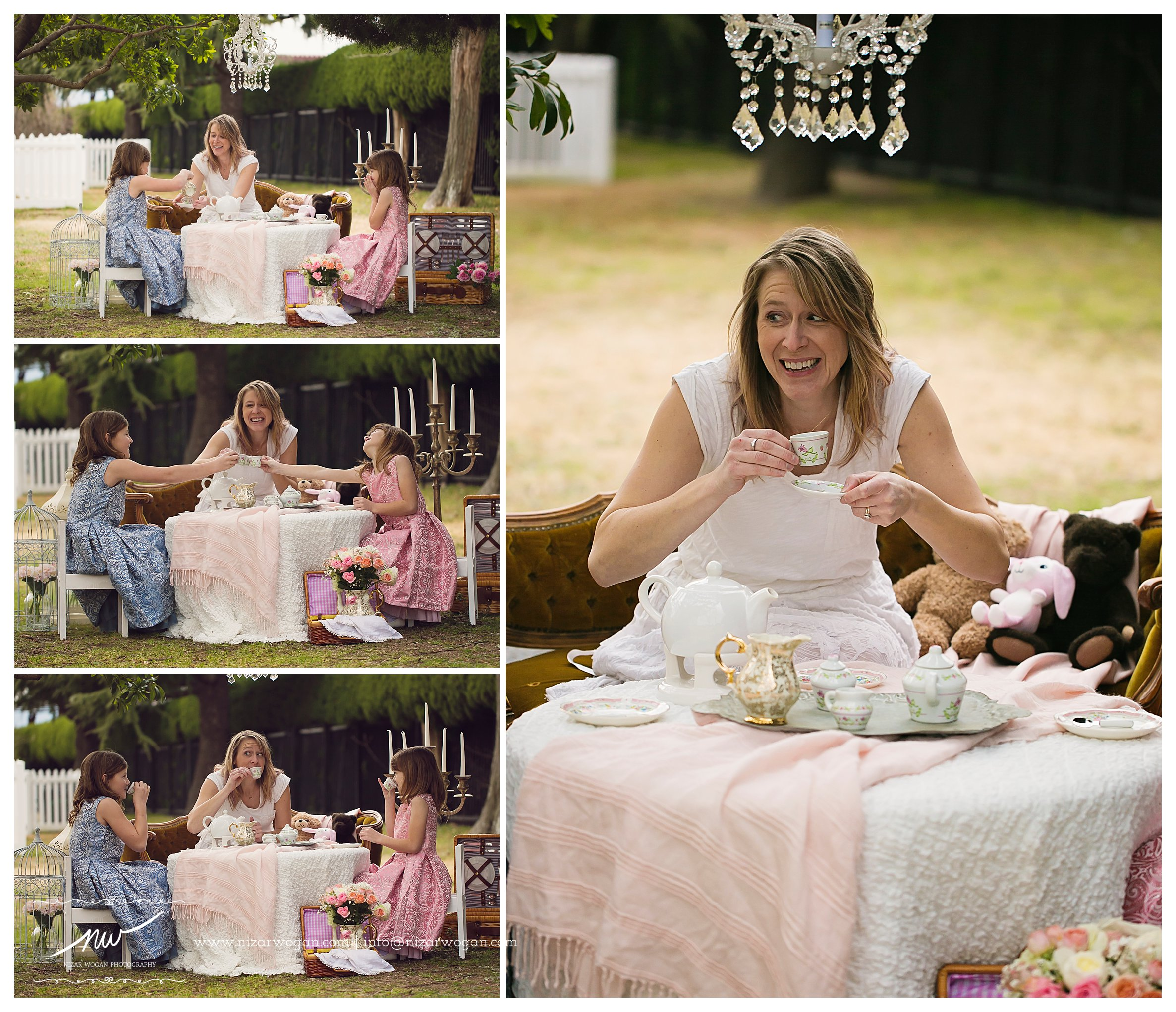 tea party photoshoot
