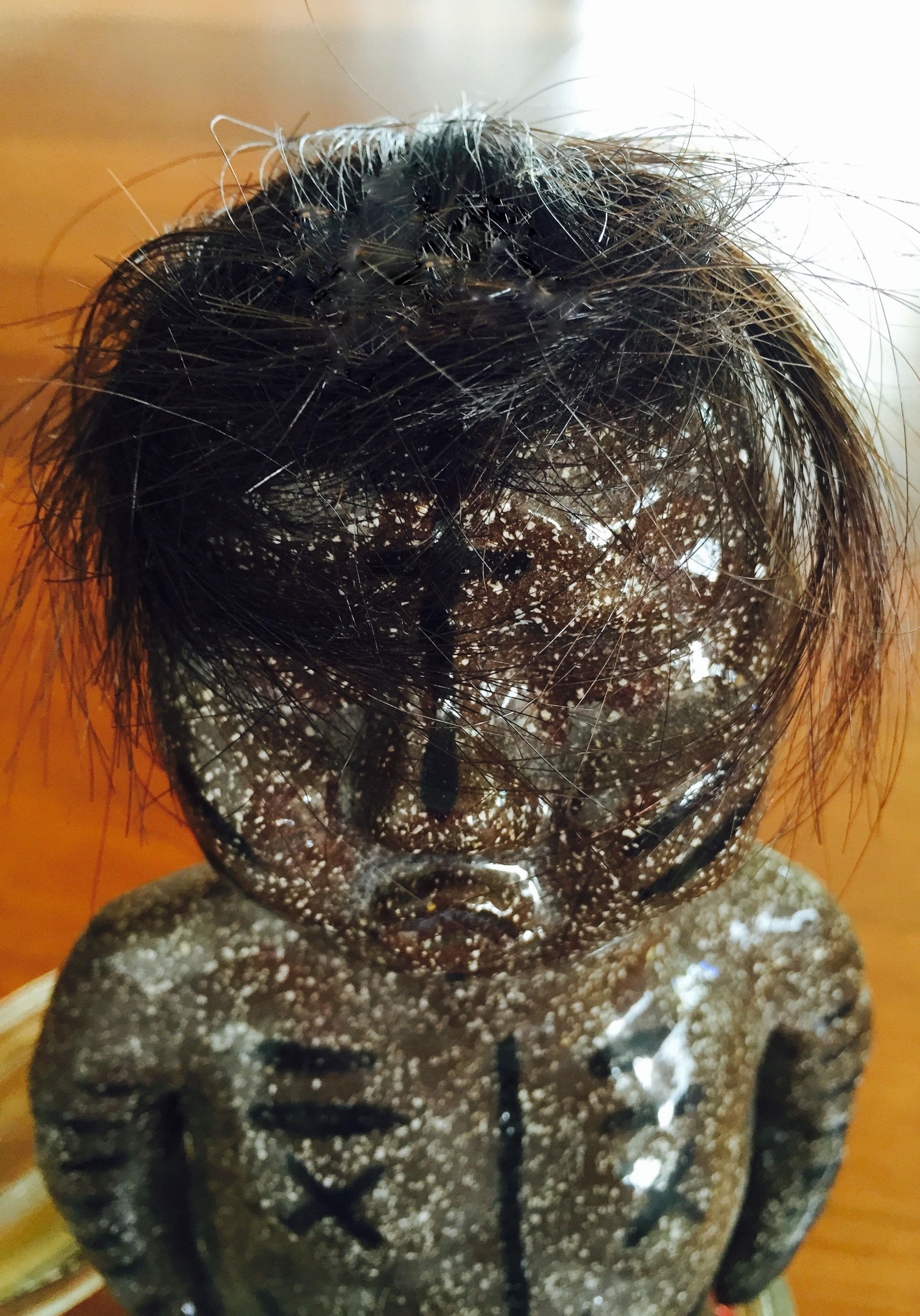 Untitled Ceramic, Human Hair Dimension Variable 2014