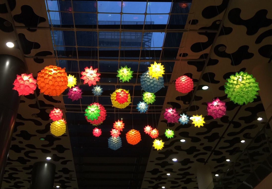 Anemone Recyled Plastic Water Bottles, LED lights, Spray Paint  Dimension Variable   2014
