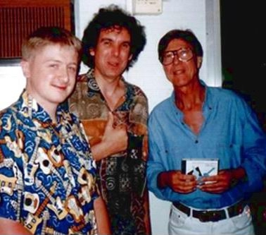 l-r CG, John Etheridge, Hank Marvin. Perth WA 1998