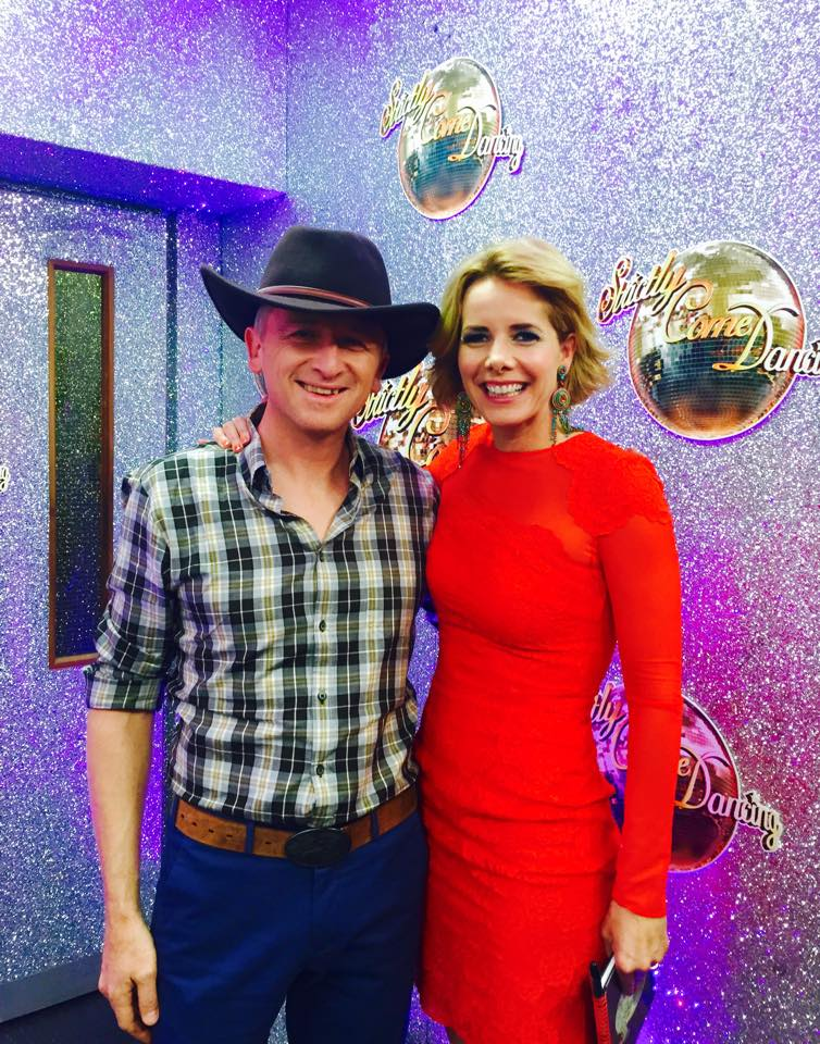 w/Darcey Bussell at filming for Strictly Come Dancing