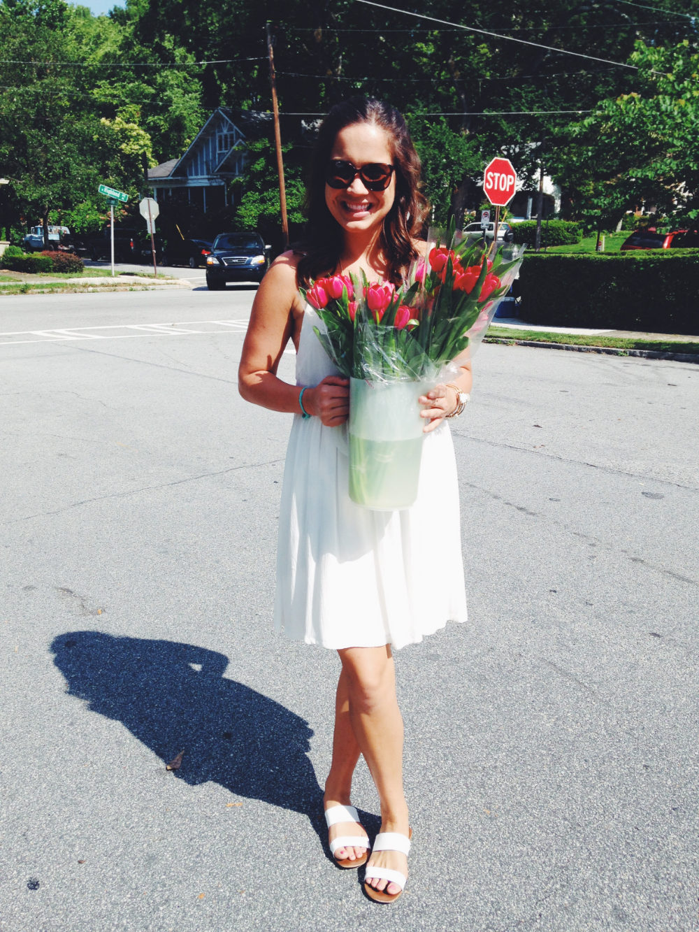 {You can never go wrong with flowers}
