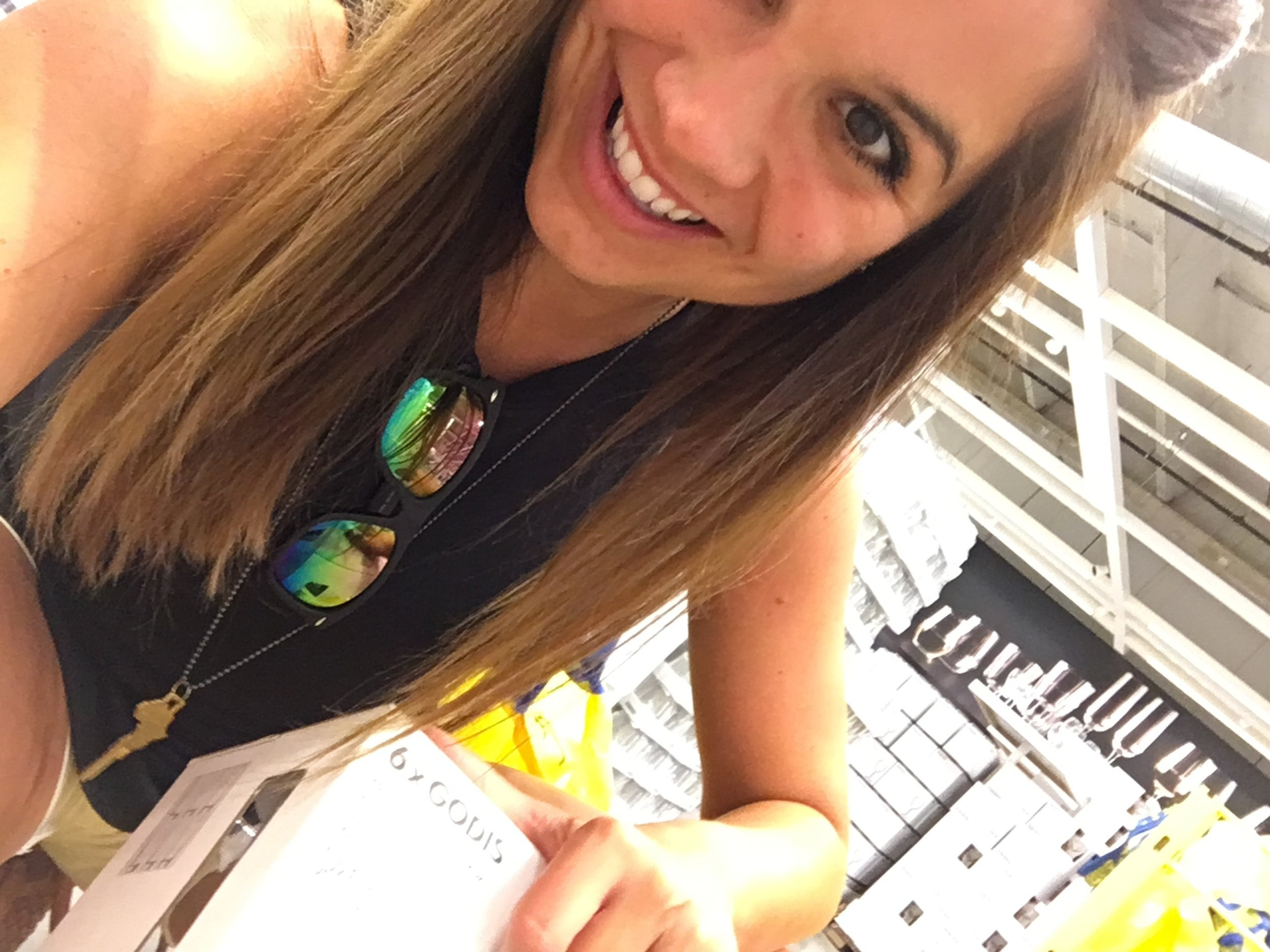 ^Me, on the floor at Ikea.