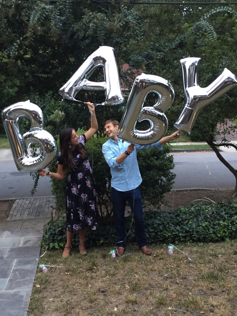 We actually just stumbled upon these baby balloons :) thought we'd snag a pic!