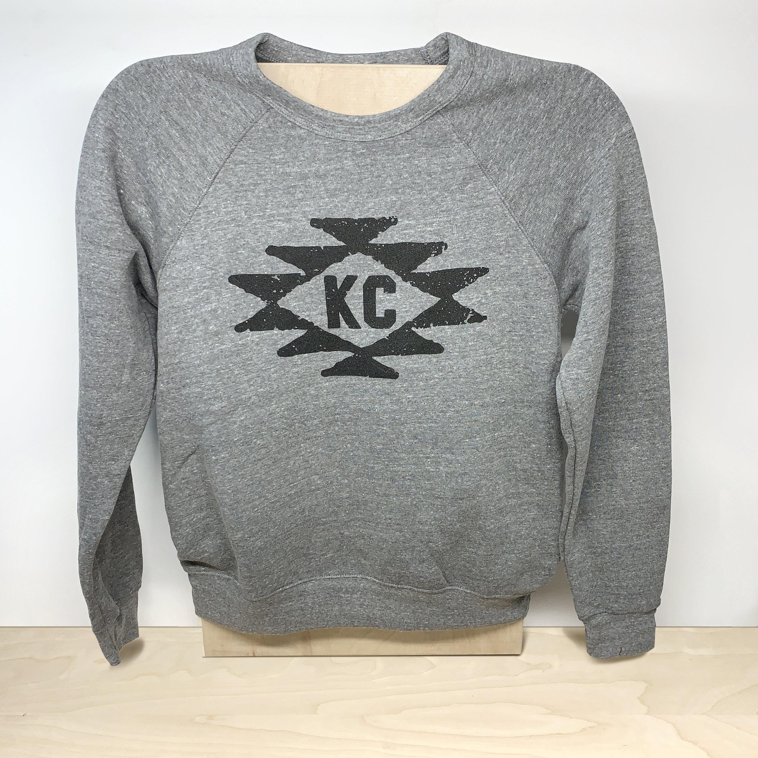 KC Tribe Sweatshirt (black on gray)