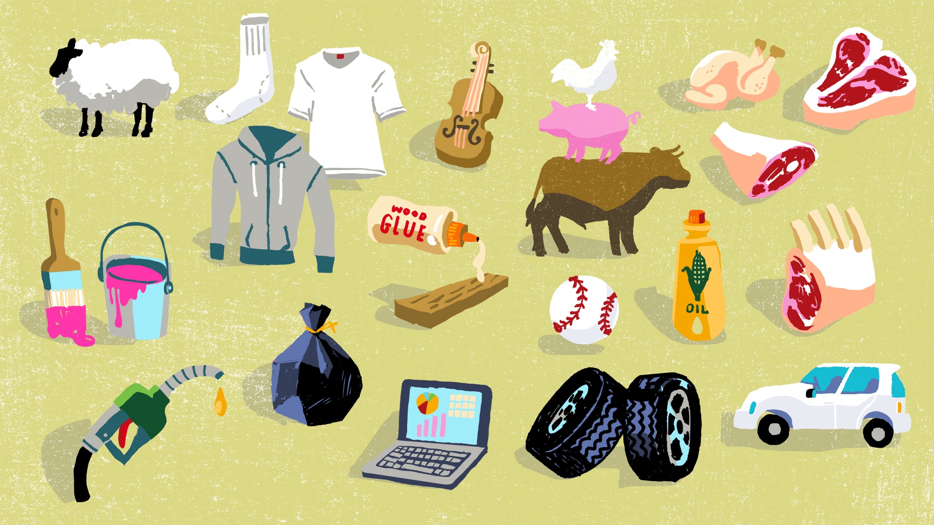 Icons that were used in a video for the American Royal.