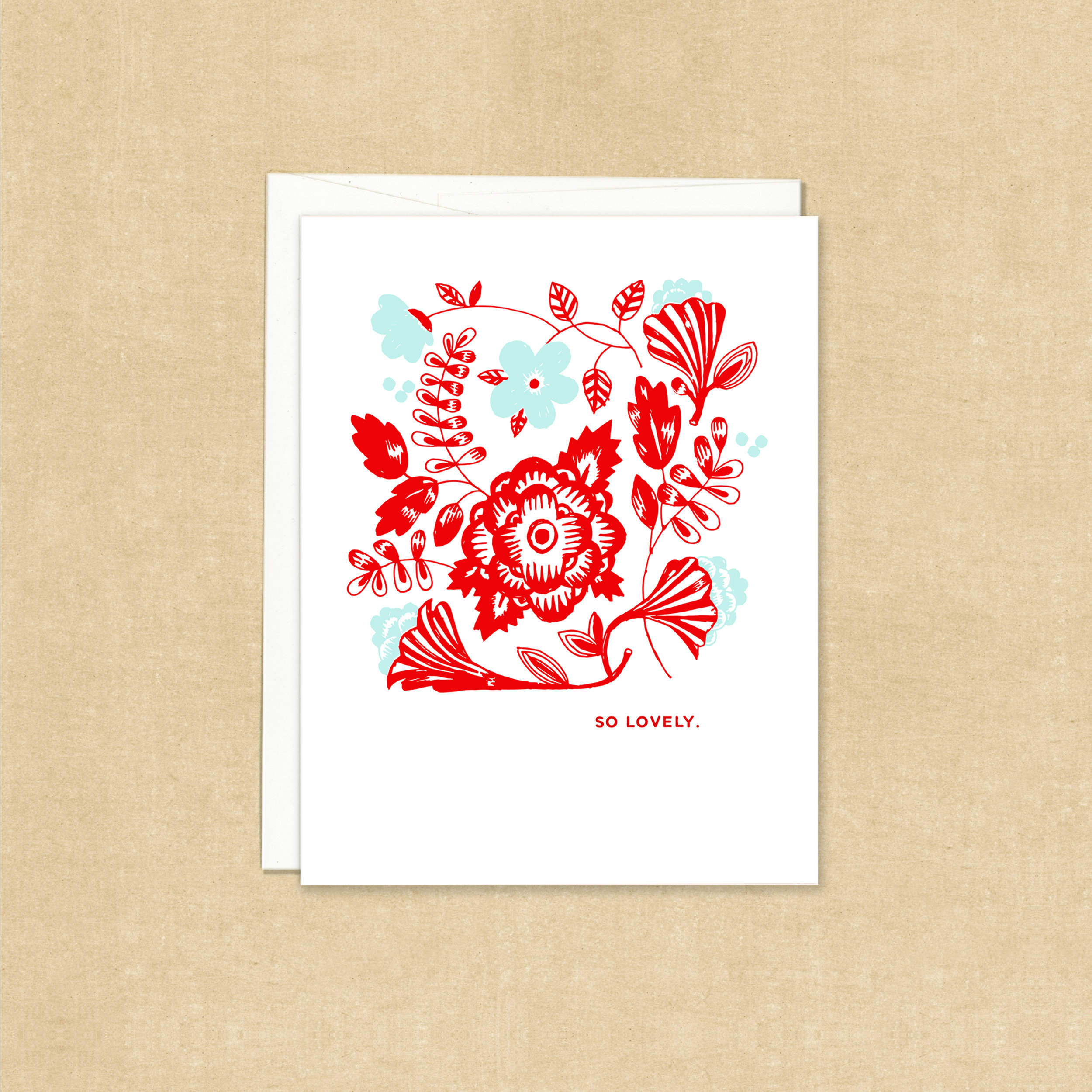 Red and Teal Floral