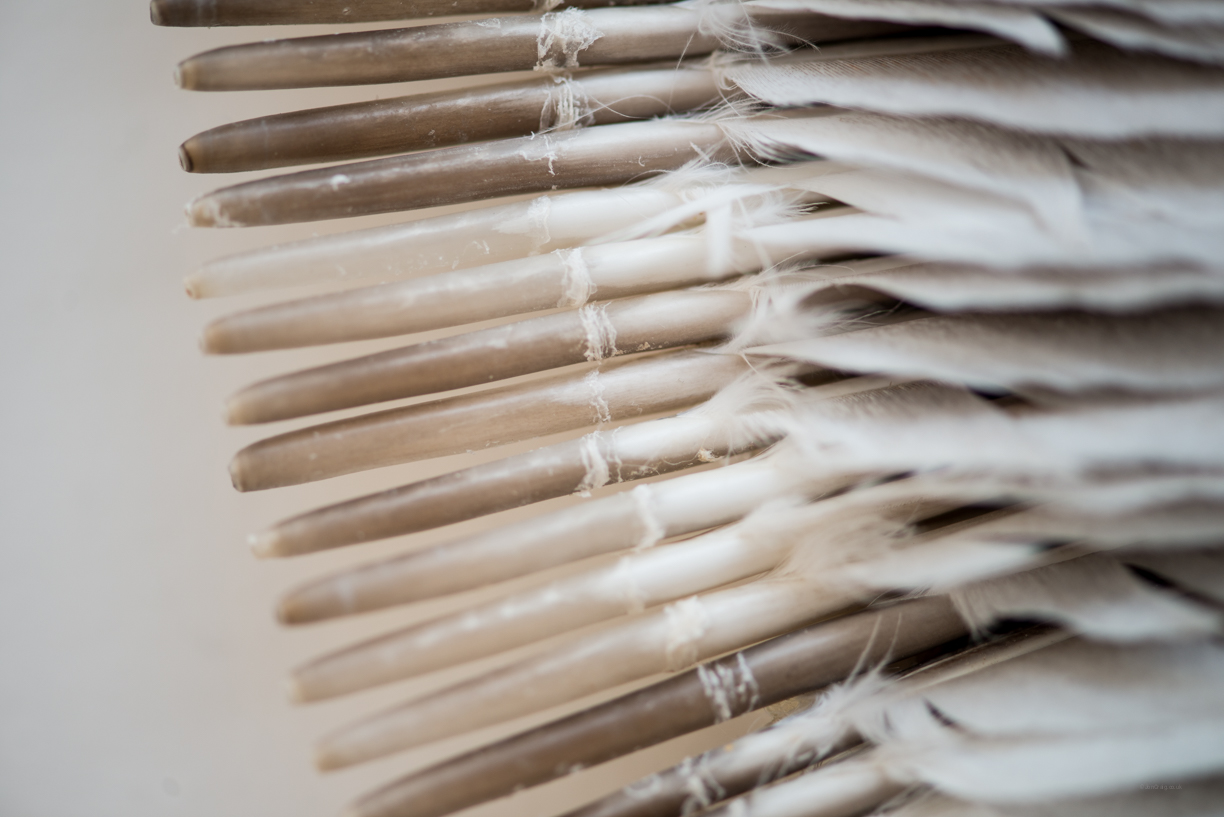Quiver (detail), Kate MccGwire, RWA, Bristol  - Photo:  Jon Craig