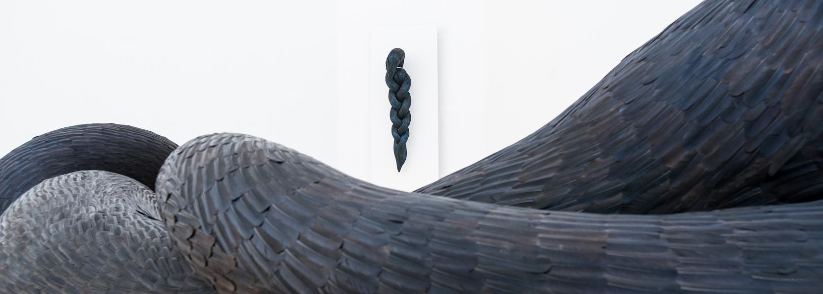 Splice & Gyre (Exhibition View),Kate MccGwire, RWA,Bristol -Photo: Jon Craig