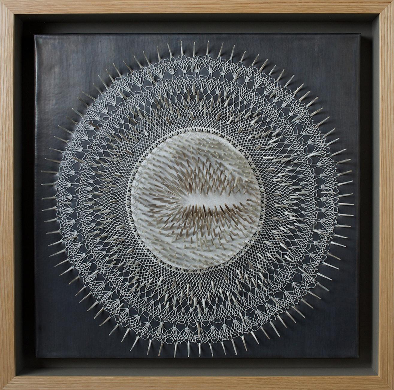 White Lies (Omission),  53 x 53 x 9 cm