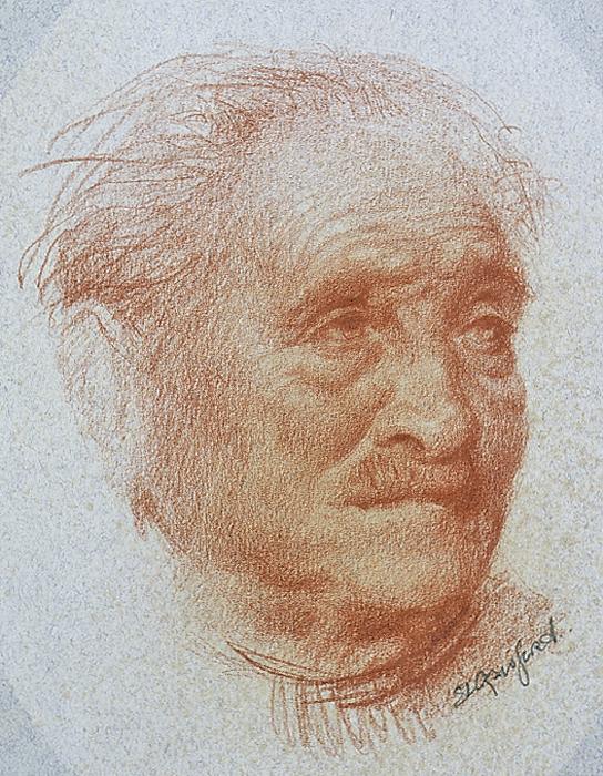 Old Florentine (Study in Sanguine)