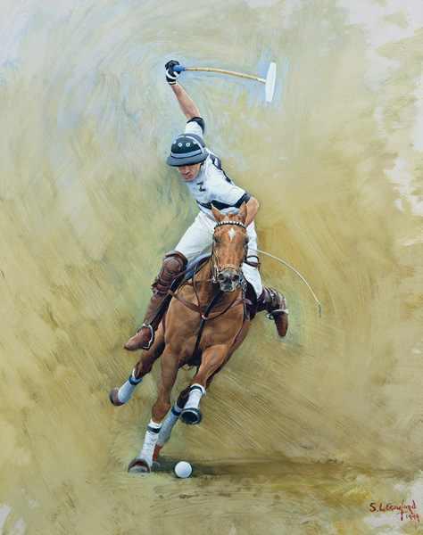 Polo Action Sketch