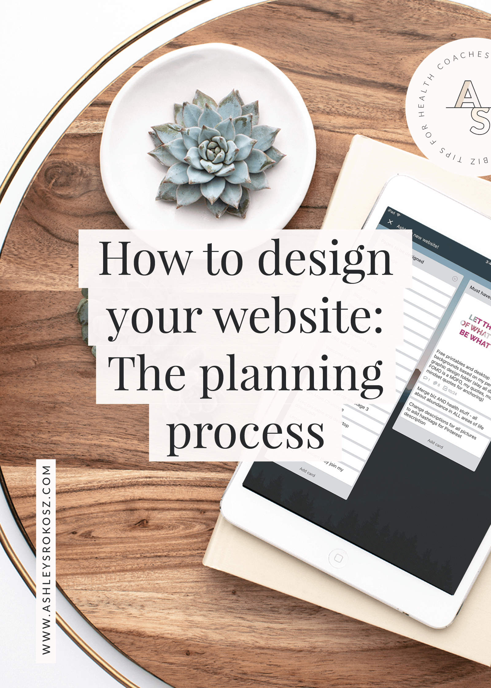 Do you want a new website (or re-do your current one) and don't know where to start? Click here to learn how to plan out the process for your new website using free tools! #healthcoach #healthcoachwebsite #nutritionistwebsitedesign #nutritionistwebsite