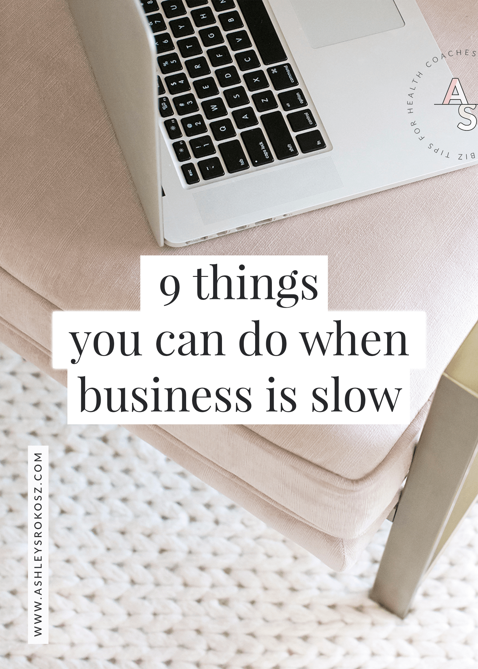 It's normal for a business to have a lull, but you can still grow your business during this slow time! Click to learn 9 things you can do to grow your business when it's slow. The best part is that most of these things you can do once, and they'll help you find paying clients and grow your email list for months or years to come! This is perfect for holistic nutritionists, health coaches, yoga teachers, naturopaths, and essential oil advocates.