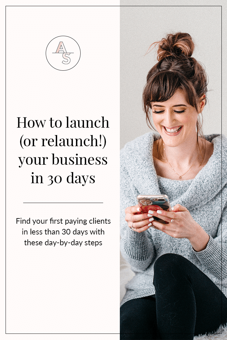 Want to launch (or relaunch!) your business by finding your first paying client within 30 days? Click to find the day-by-day steps to follow PLUS a bonus to show you how to make your entire first YEAR in business profitable and amazing! #healthcoaching #nutritionbusiness #businesstips #launching #squarespace