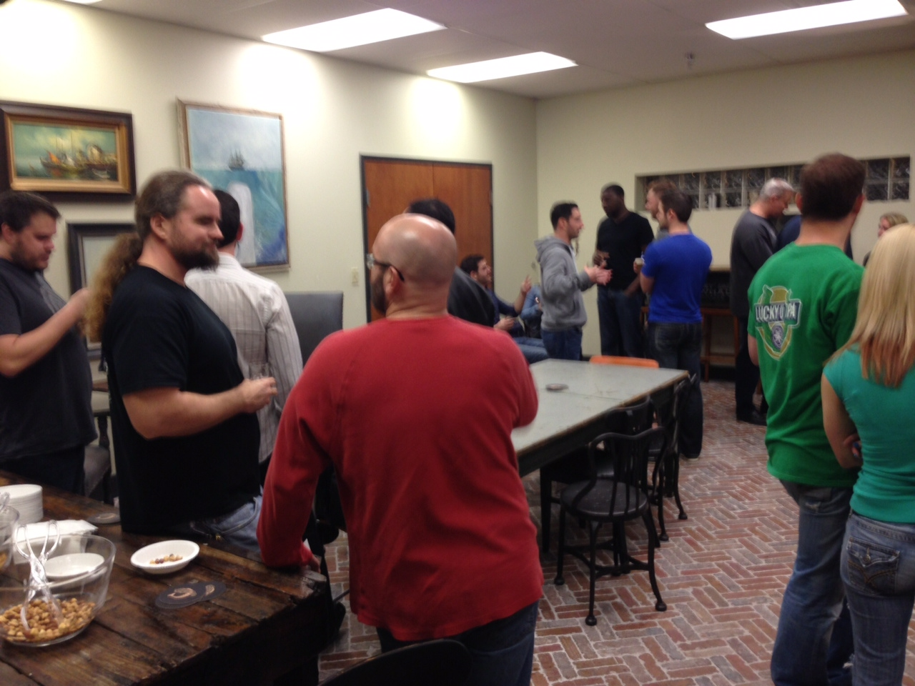 A group of good samaritans helped us drink up our extra beer at the pop-up tasting.