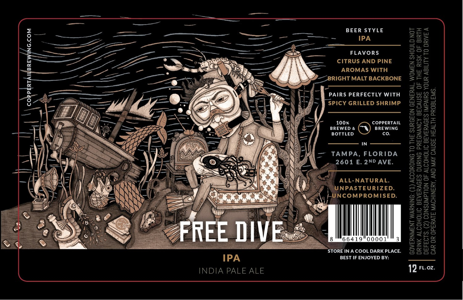 Label Sneak Peek Unholy Trippel And Free Dive Ipa Coppertail Brewing Co